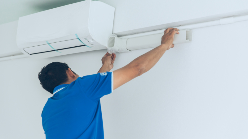 You call a professional to do your air conditioning installation for you